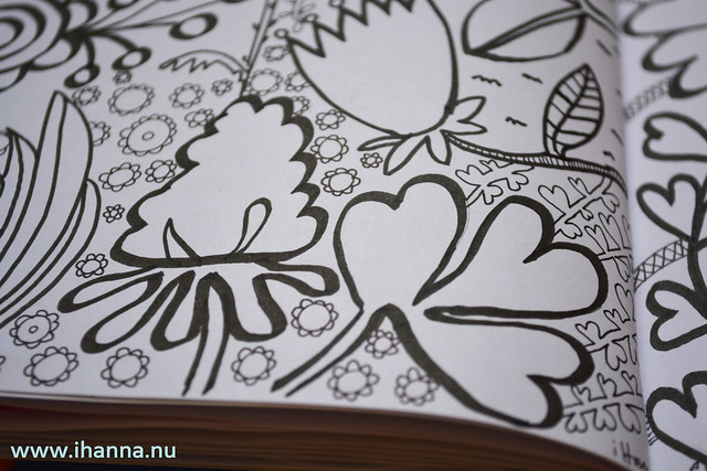 Diary Doodle: Leaf design close up