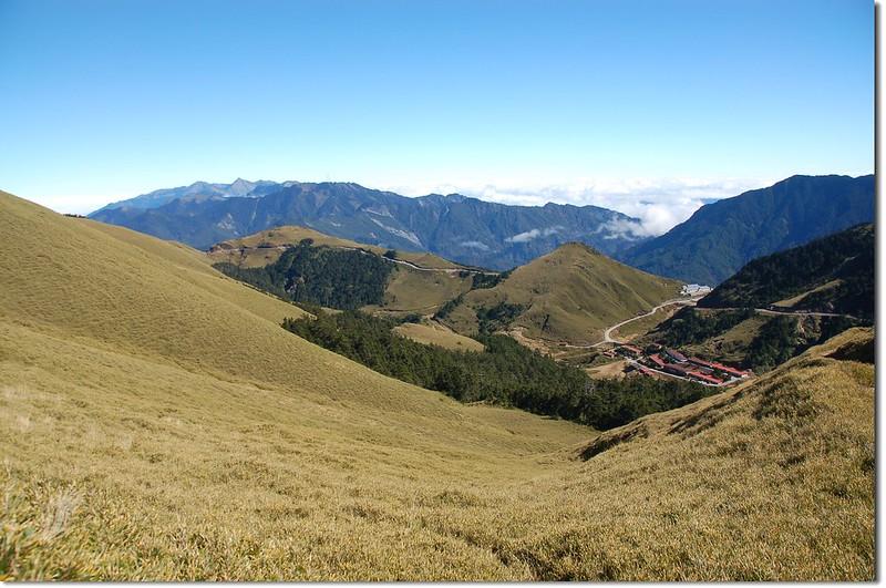 合歡主山步道東北眺北段中央山脈 1