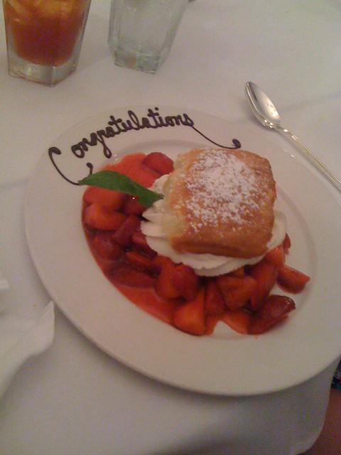 Strawberry Shortcake, the piece de resistance, at Commander's Palace, NOLA