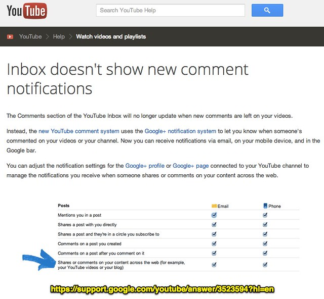 Inbox doesn't show new comment notifications - YouTube Help