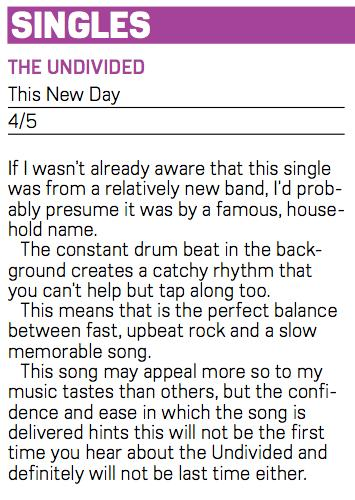 The Undivided - This New Day Review Burton Mail