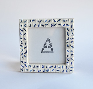 Blue Arrows Mosaic Frame