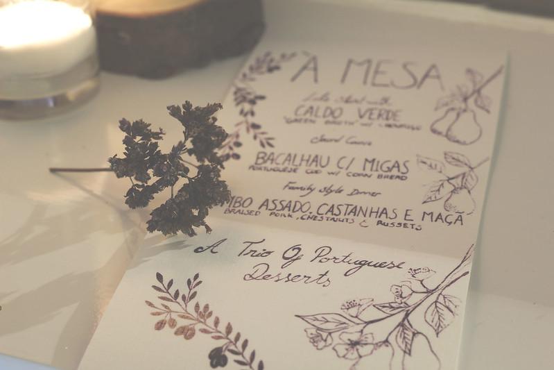 A mesa Menu