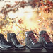 These are shoes, with fire leaves by wiseacre photo