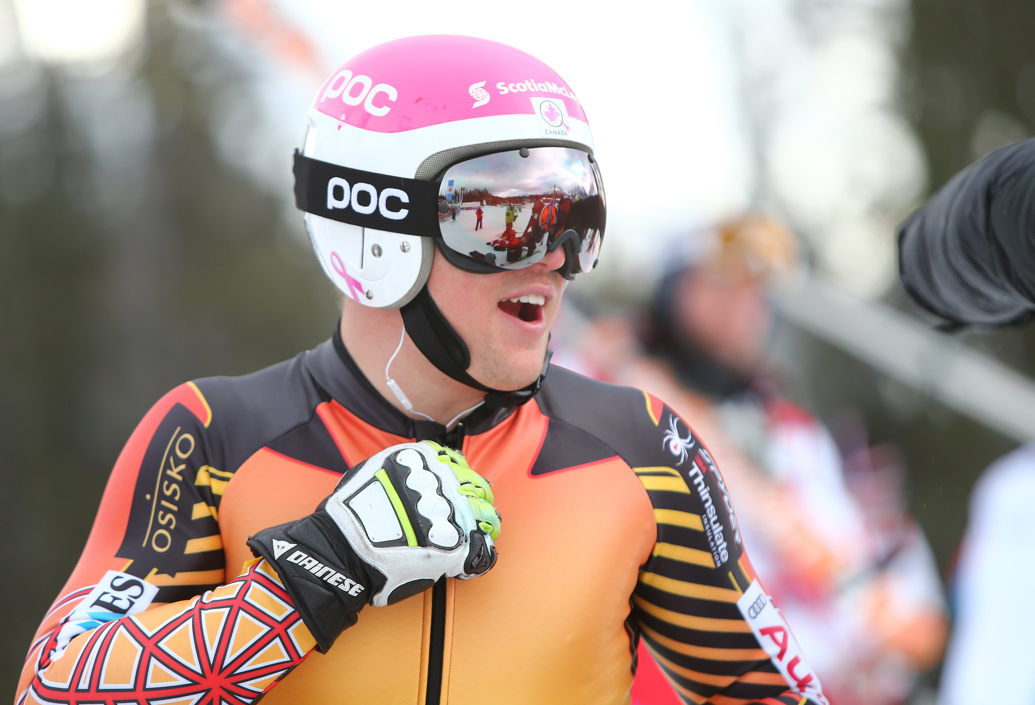 Ben Thomsen is all smiles on a free ski day in Lake Louise, CAN