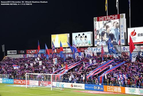 柏vsFC東京 日立柏サッカー場 FC東京ゴール裏