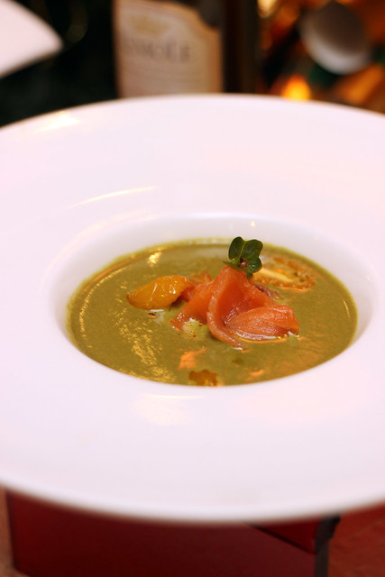Cream of Spinach with Salmon Flake