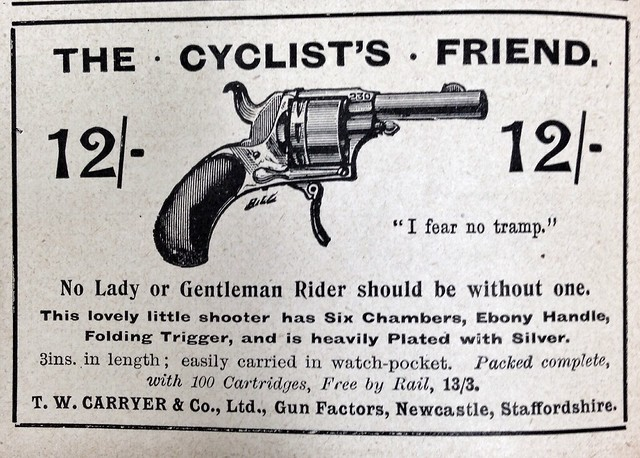 Cycling ads, late 1890s