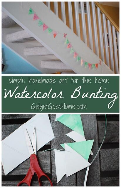 watercolor bunting | gidgetgoeshome.com