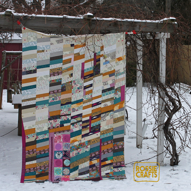 Ron the Half Chevron Quilt Top