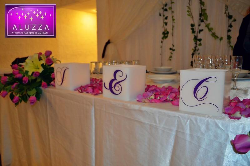 detalle para decoracion de mesa principal de boda aluzza
