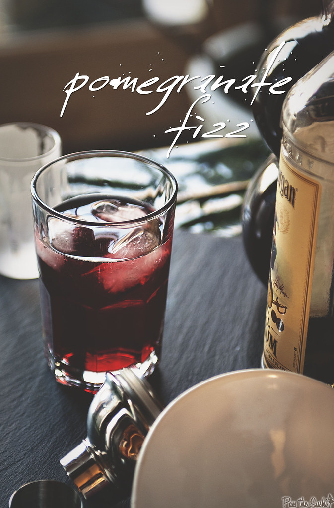 Pomegranate Fizz #captainstable from PasstheSushi.com