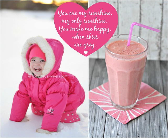 you are my sunshine | be my valentine smoothie