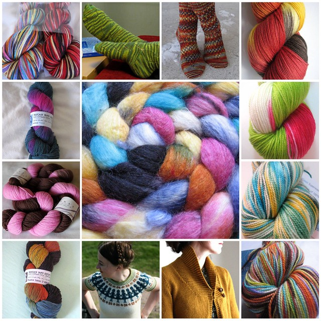 Yarn and Patterns collage