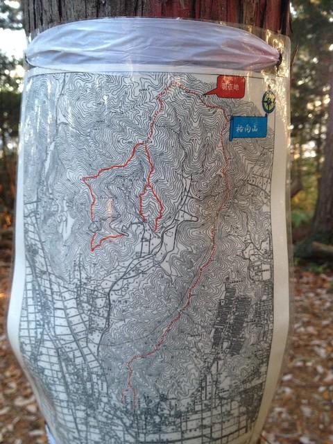 文殊の森 祐向山 大平山 縦走ルートマップ