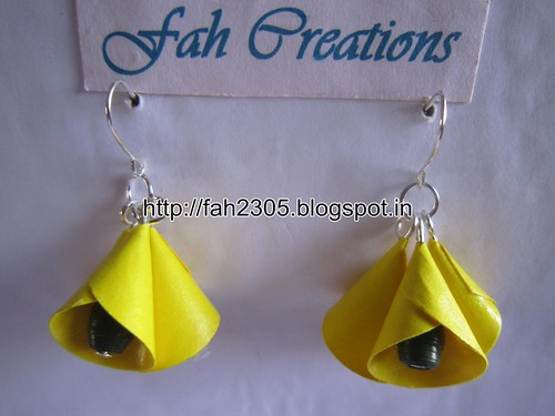 Handmade Jewelry - Paper Cone Bell Earrings (5) by fah2305