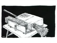 Besen Grafik - broom graphics (BG 01.3): Lecture evening - Dia-Vortrag