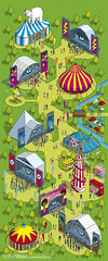 Esquire-stock Music Festival Map illustration by Rod Hunt