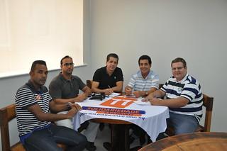 Paulo Vítor, Dr. Adriano, David Martins, Valdir Alvarenga e Alemão, na sede do Solidariedade-SP
