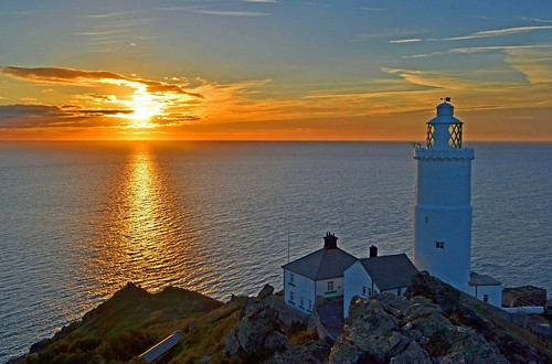 Sunrise at Start Point lighthouse