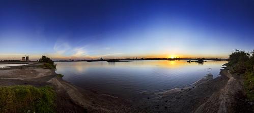 sunset water sudan nile khartoum bluenile sudanese azzamalsofi