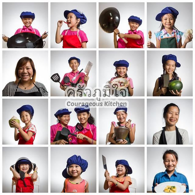 Cooking Portrait Collage
