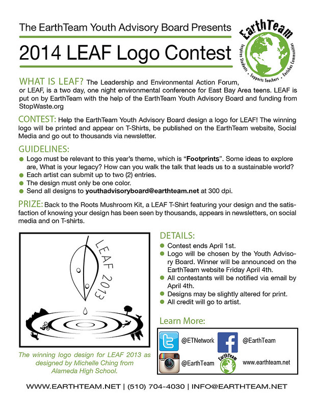 LEAF Logo Contest Flyer Design two