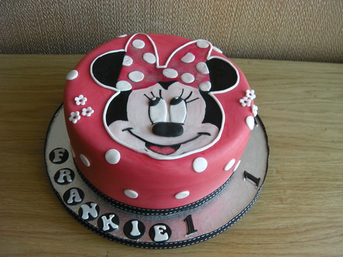 Red Minnie Mouse 1st Birthday Minnie Mouse 1st Birthday Cake
