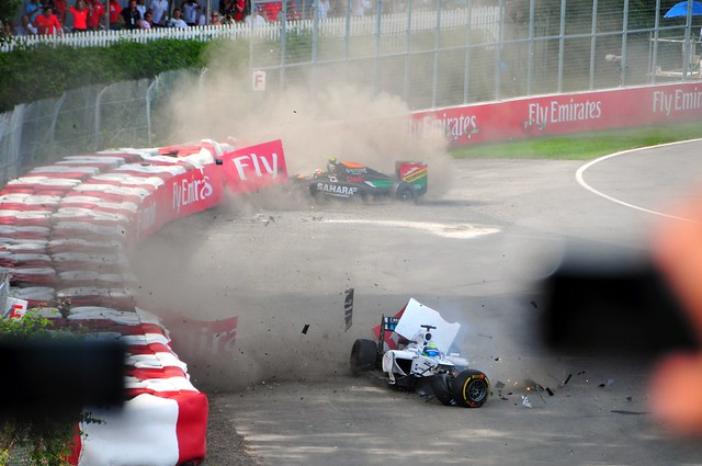 Massa Perez Crash 2014 Canadian Grand Prix 8