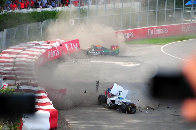 Massa Perez Crash 2014 Canadian Grand Prix 8