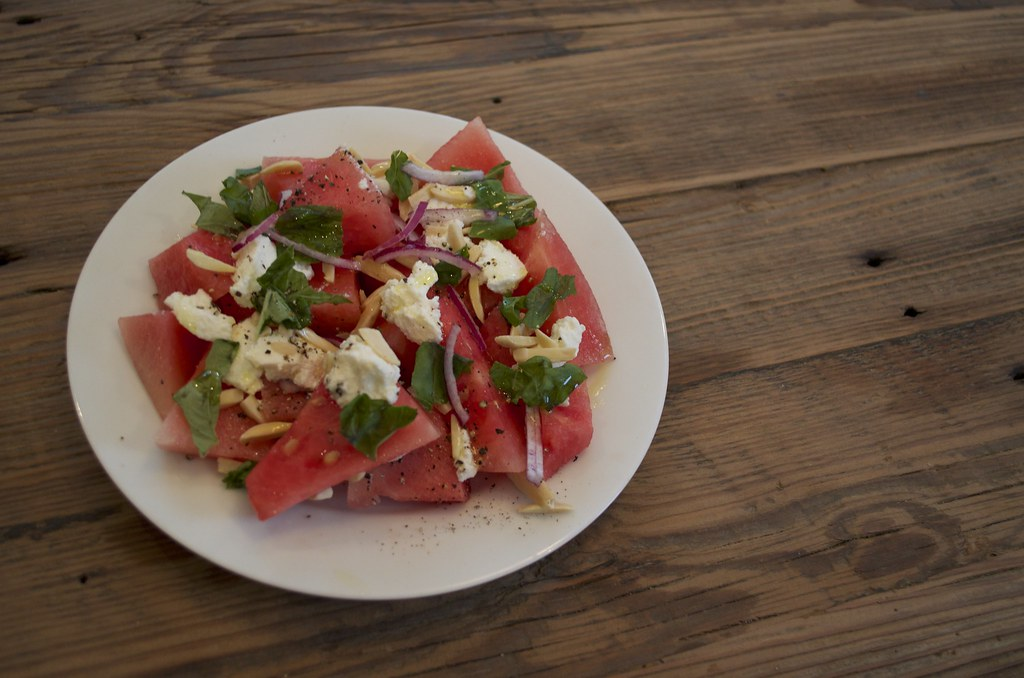 Watermelon and Ricotta Salad