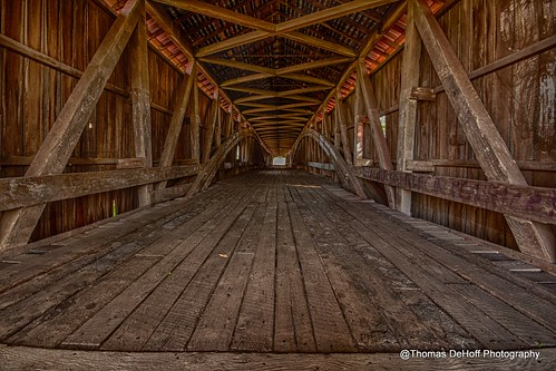 county bridge west sony union indiana covered hdr parke a700