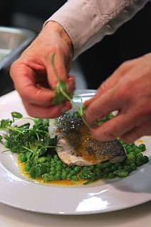 Seabass with herbs, peashoots & orange IMG_1064 R