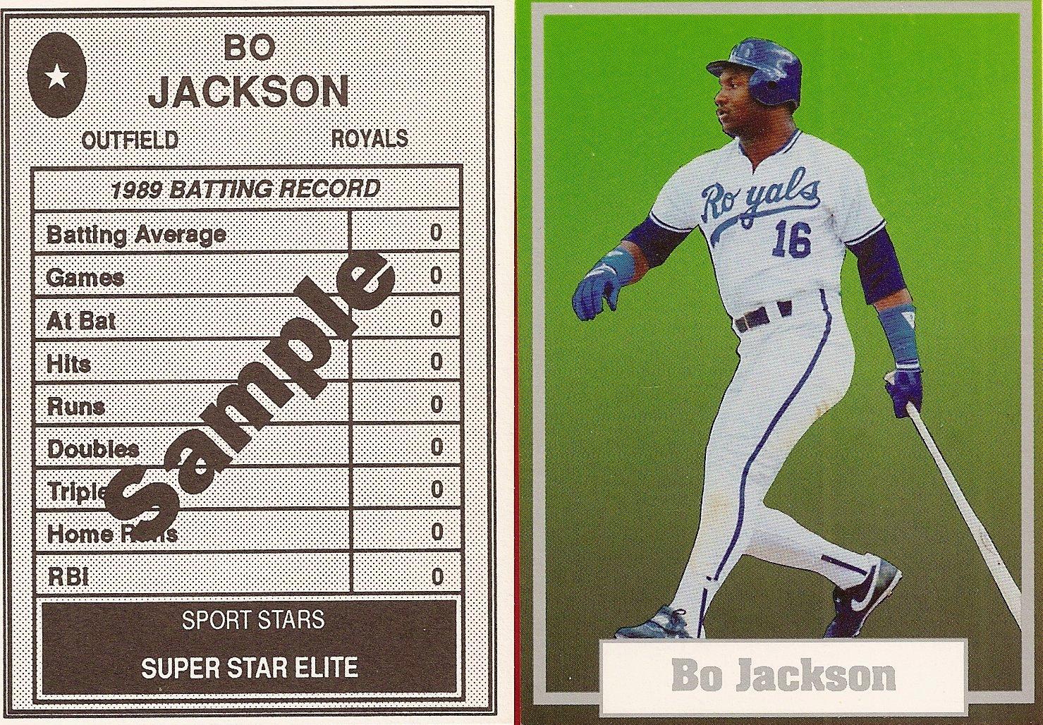 1990 Sports Stars Superstar Elite Green Background Sample