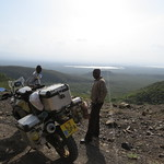 View down to Lake Baringo, Kenya