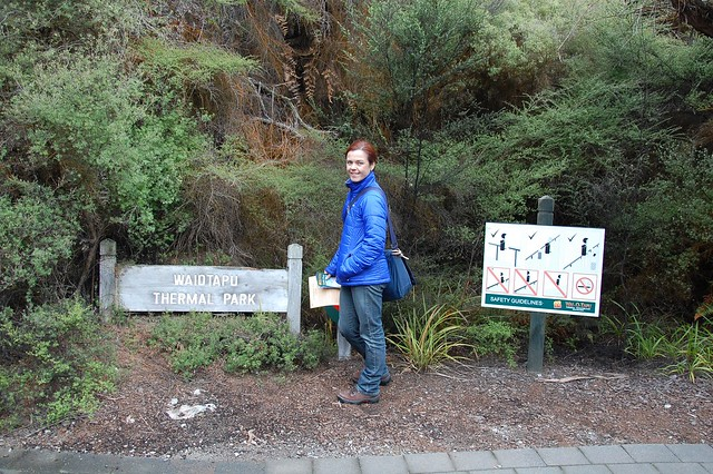Wai o tepu. Parque termal en Rotorua