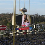 HD Hexagonal Video Board Dodger Stadium Los Angeles California