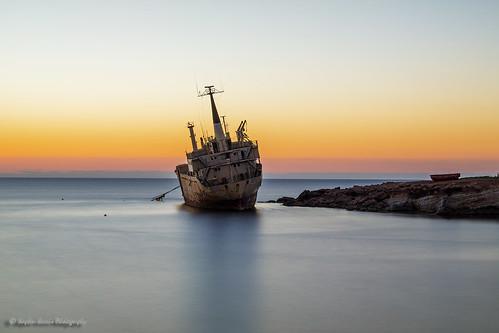 longexposure sunset seascape canon landscape cyprus shipwreck stephenennisphotography