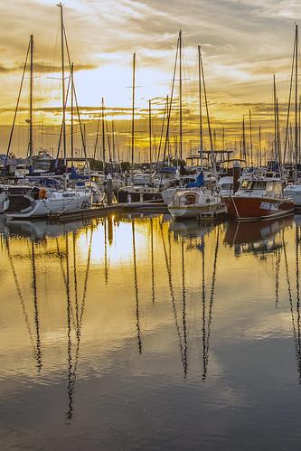 sea sky reflection clouds sunrise boats cloudy manly sunsetsandsunrisesgold cloudsstormssunsetssunrises