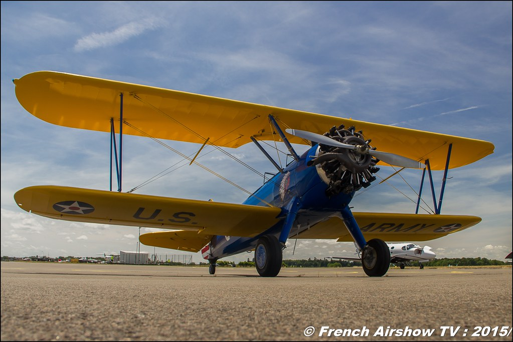 PT 17 Stearman, F-AZIC,Fly'in Saint-Yan 2015,Fly in LFBK 2015, Meeting Aerien 2015