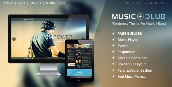 Music Club v1.09 - Music/Band/Club/Party Wordpress Theme
