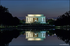 Lincoln Memorial And Reflection Pool