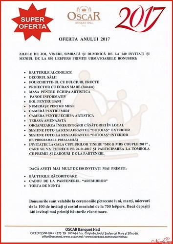 """Restaurantul Oscar > SUPER OFERTA ANULUI 2017 """"Oscar Banquet Hall"""""""