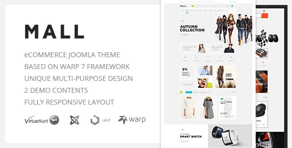 Mall v1.0 - Multi-Purpose eCommerce Responsive Joomla Template