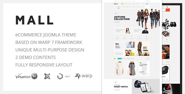 Mall v1.0 – Multi-Purpose eCommerce Responsive Joomla Template