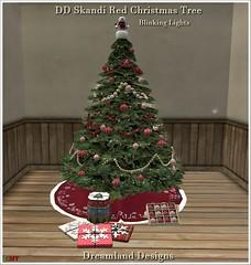 DD Skandi Red Christmas Tree Vendor