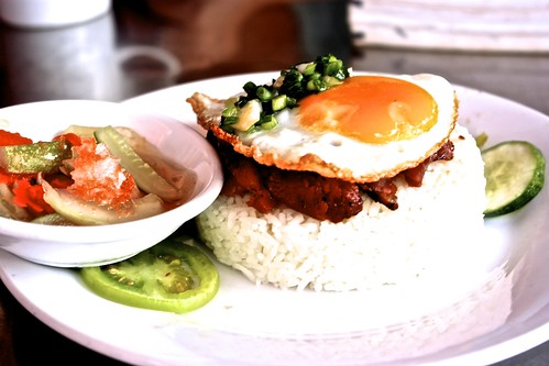 pork, eggs and rice… a Phnom Penh staple for breakfast