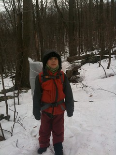 Asher Molyneaux Hiking in Snow