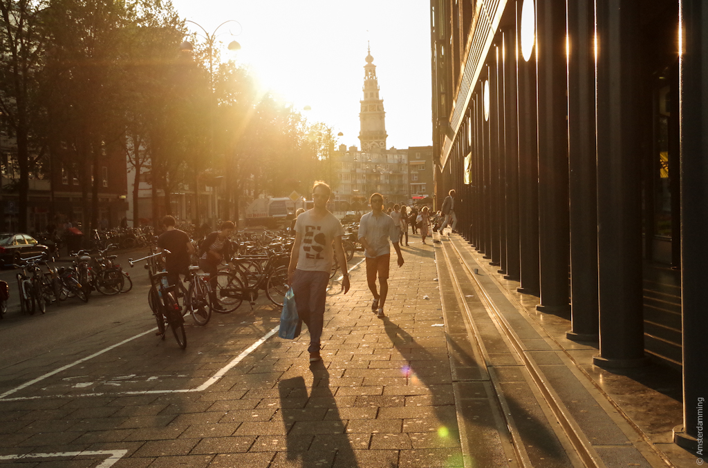 Amsterdam, Sunset in Waterlooplein
