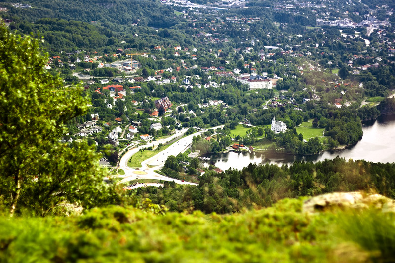 Bergen seen from Løvstakken